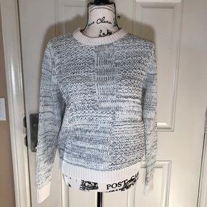 Banana Republic Crew Neck Heavy Knit Sweater White